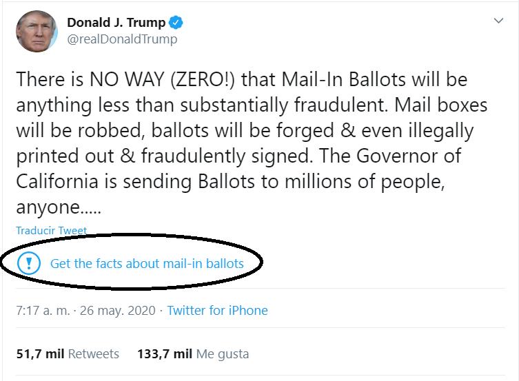 Trino Trump marcado