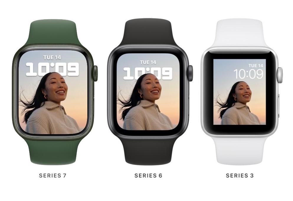 Apple Watch 7 frente al Watch 6 y el Watch 3